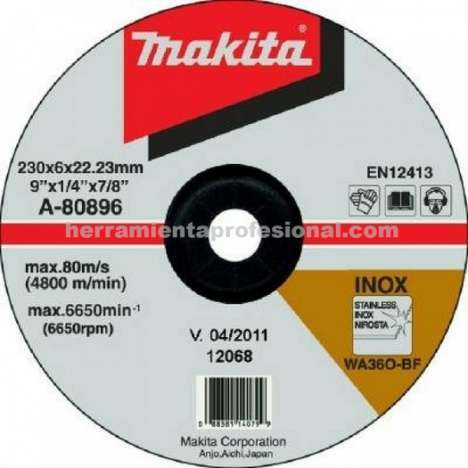 Disco abrasivo desbarbar Makita Metal 115mm x 6.4mm