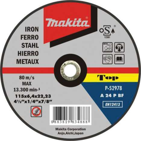 Disco abrasivo desbarbar Makita Metal 125mm x 6.4mm