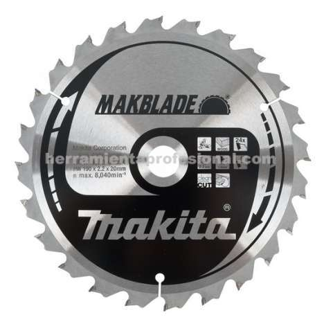 Disco Makblade Makita 190mm 60 dientes