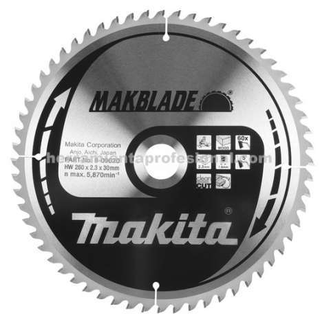 Disco Makblade Makita 255mm 60 dientes