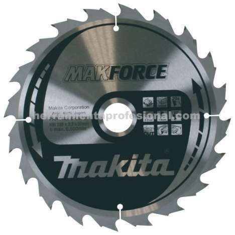 Disco Makforce Makita 235mm 20 dientes