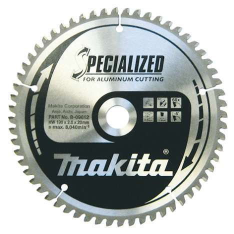 Disco Specialized aluminio para ingletadora Makita 260mm 80 dientes