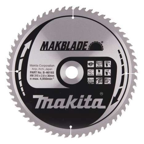 Disco Specialized Makita 315mm 60 Dientes