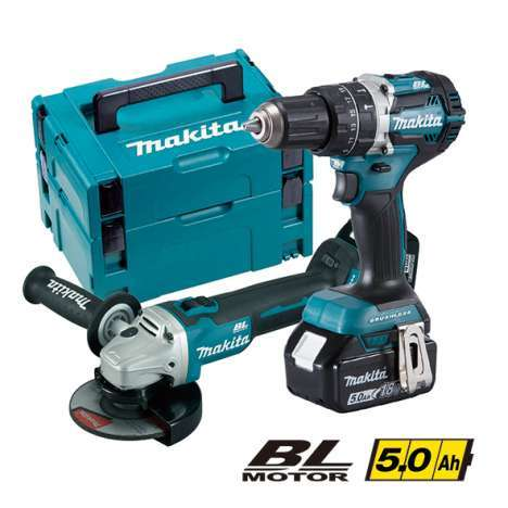 Kit combo mini-amoladora y martillo ligero DLX2179TJ1 MAKITA