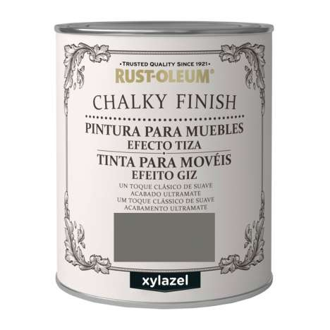 Pintura Efecto Tiza Xylazel Rust-Oleum Chalky Finish - Antracita 125 ml