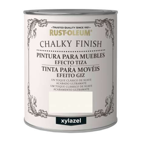 Pintura Efecto Tiza Xylazel Rust-Oleum Chalky Finish - Blanco Antiguo 750 ml