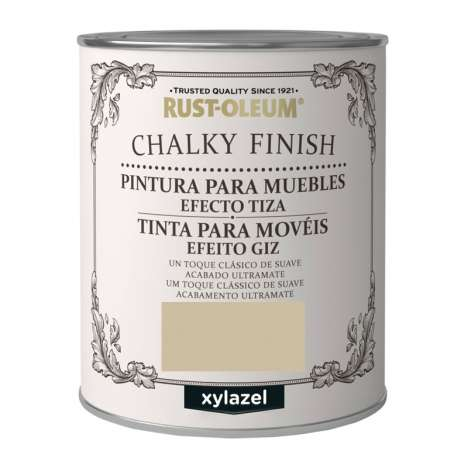 Pintura Efecto Tiza Xylazel Rust-Oleum Chalky Finish - Marrón Yute 750 ml