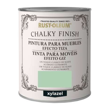 Pintura Efecto Tiza Xylazel Rust-Oleum Chalky Finish - Verde Laurel 750 ml