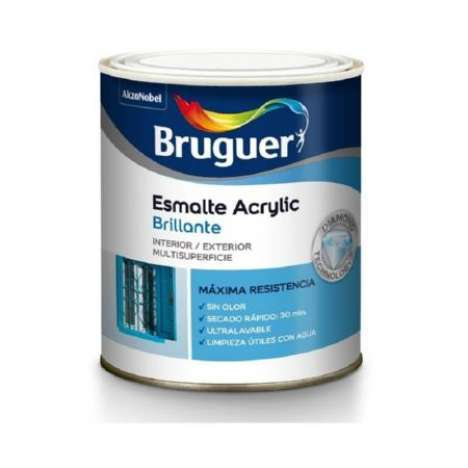 Esmalte Bruguer acrylic brillo BLANCO PERMANENTE 250 ML