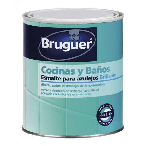 Esmalte Bruguer azulejo brillo BLANCO 750 ML