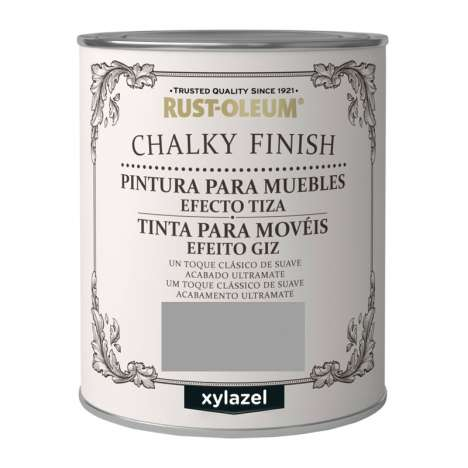 Pintura Efecto Tiza Xylazel Rust-Oleum Chalky Finish - Gris Invernal 750 ml